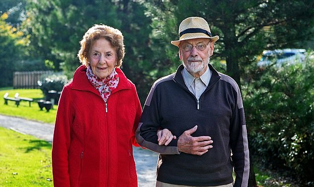 Price hike: Walter and Peggy have paid more than £ 200 this year for the upkeep of the estate they live on in Chudleigh, Devon