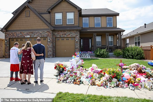 The killings sparked national sympathy. Above is the family home in Greeley, Colorado