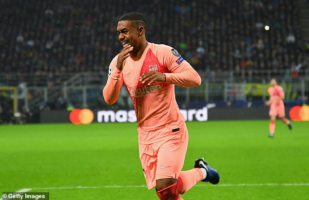 Malcom had given a stunning Barcelona a late lead in an end-to-end game at San Siro