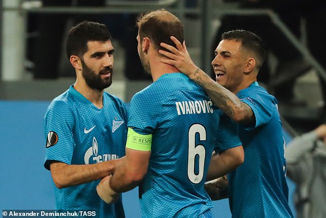 Paredes (on the right with Branislav Ivanovic) will miss CSKA Moscow on Sunday