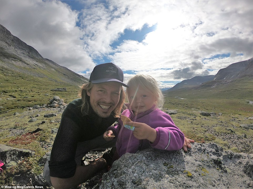 "Alexander said, ""It's awesome to watch your daughter out in the mountains and see how playful, happy and present she is"""
