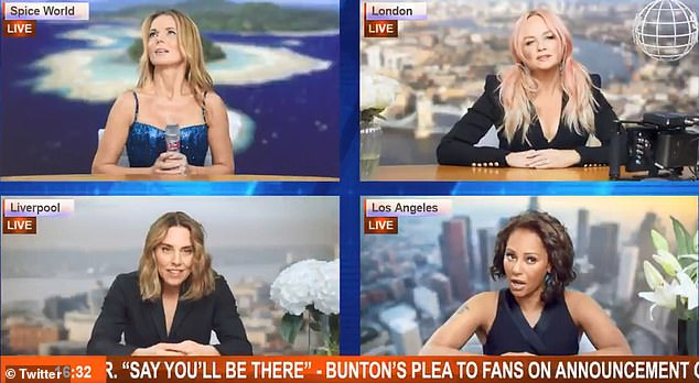 Comeback: The four remaining Spice Girls announced their comeback in a short social media video on Monday