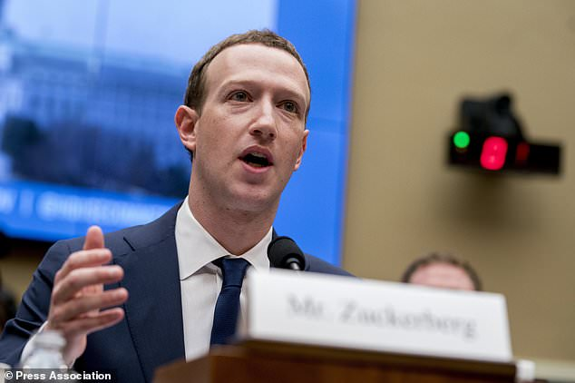 Facebook CEO Mark Zuckerberg testifies before a House Energy and Commerce hearing on Capitol Hill in Washington about the use of Facebook data to target American voters in the 2016 election in April this year