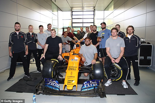 Members of the New Zealand team visited McLaren's headquarters before the clash of England