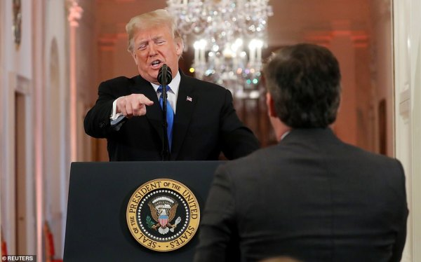 ''Sit down. You are very rude. You are FAKE NEWS': Trump ...