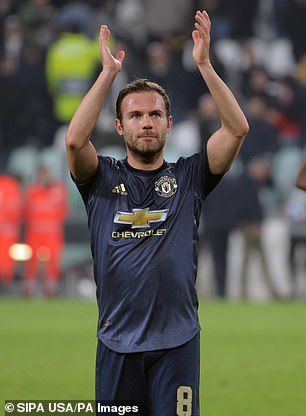 Juan Mata helped change the match in favor of Manchester United at Juventus