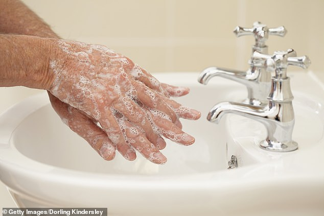 If you do not wash your hands when you get off the infected train and inevitably touch your eyes, nose or mouth, soon, then you're infected