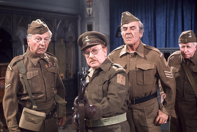 The original cast of Dad's Army included Clive Dunn as LCpl. Jack Jones, Arthur Lowe as Capt. George Mainwaring and John Le Mesurier as Sgt. Arthur Wilson (pictured left to right)