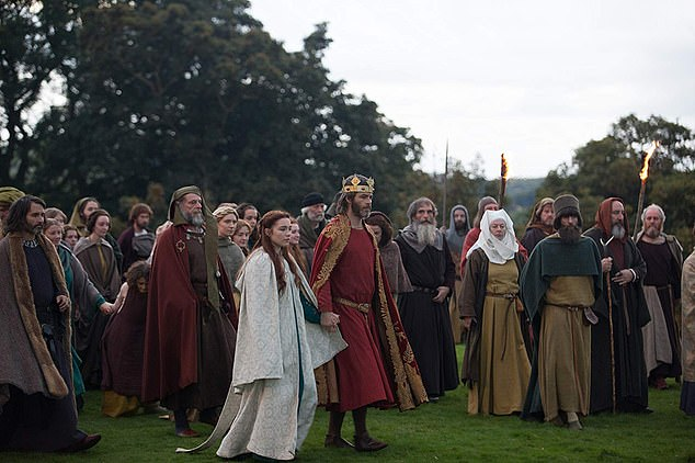 Chris Pine and Florence Pugh in Outlaw King. The medieval action epic is only showing in a few cinemas, and will mostly be seen on Netflix, where it debuts tonight