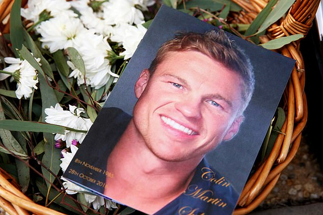 AFL star Colin Sylvia (pictured) was laid to rest on Friday after he passed away last month