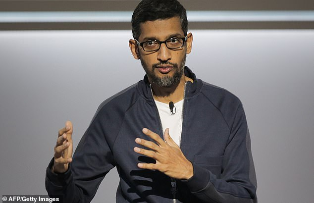 Google's CEO Sundar Pichai (file photo) has admitted that Silicon Valley was 'naïve' to believe it could 'solve humanity's problems'