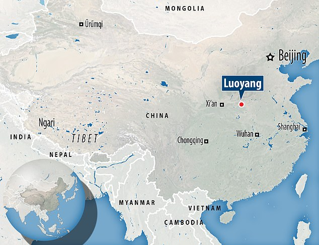 Experts were digging 300 tombs in Luoyang's Xigong district when they made the discovery