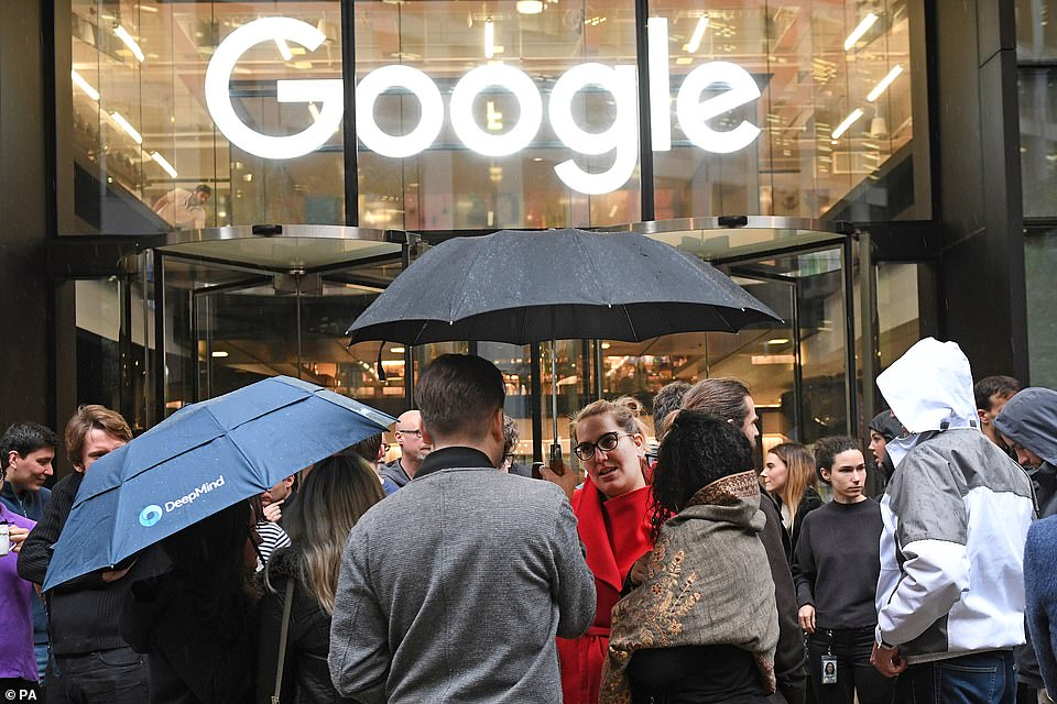 Organizers said they have presented petitions and demanded stricter employee oversights to management, while some even left their positions at the company as way to express their disapproval;The Google offices in Granary Square, London are shown here, where members of staff staged a walkout as a part of a protest over the company's treatment