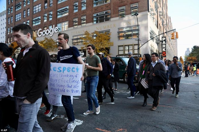 Google employees refuse to protest against the lenient treatment of executives accused of sexual misconduct on Thursday in New York