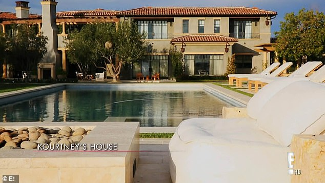 Kourtney Kardashian's house in Calabasas, California. She also left her home and stayed with sister Kendall in Beverly Hills while she was at the Victoria Secrets fashion show in New York