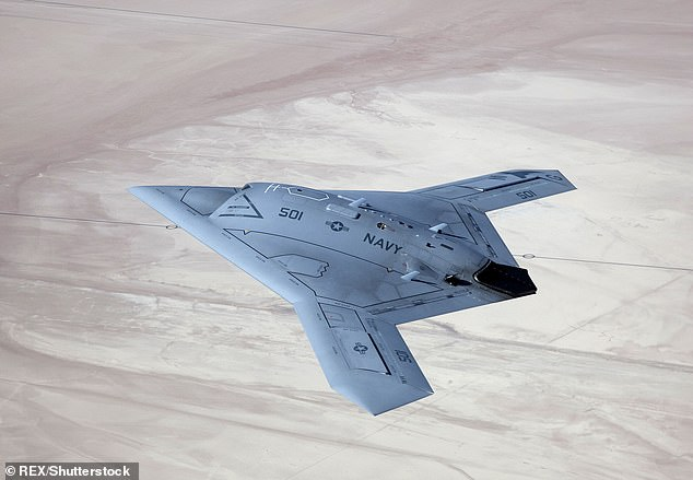 Observers argue that CH-7 appears to be a clone of the X-47B (pictured) from the U.S.. Navy