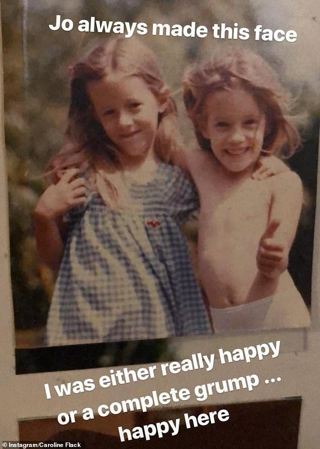 Cuties: The Love Island presenter was feeling nostalgic as she shared adorable childhood snaps of the pair to commemorate the happy occasion