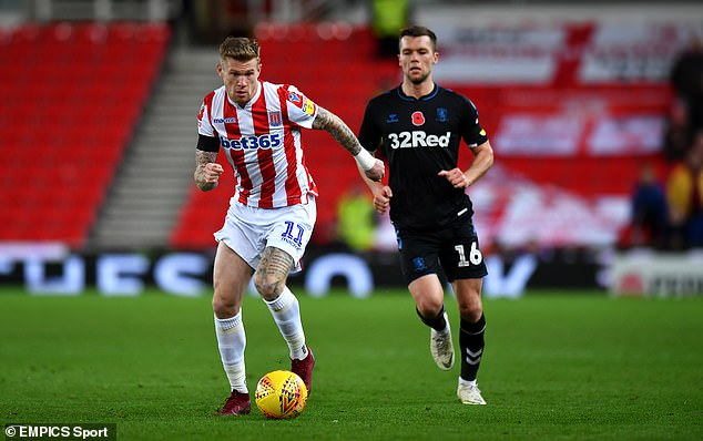 James McClean was disciplined after calling a section of