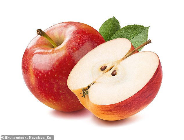 Acetylcholine in apples helps to keep the mind healthy, to keep the mood stable and protects against Alzheimer's