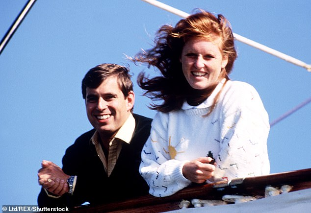 Sarah Ferguson Duchess of York and Duke of York Prince Andrew leaving for the start of their honeymoon, Portsmouth, Britain - August 2 1986