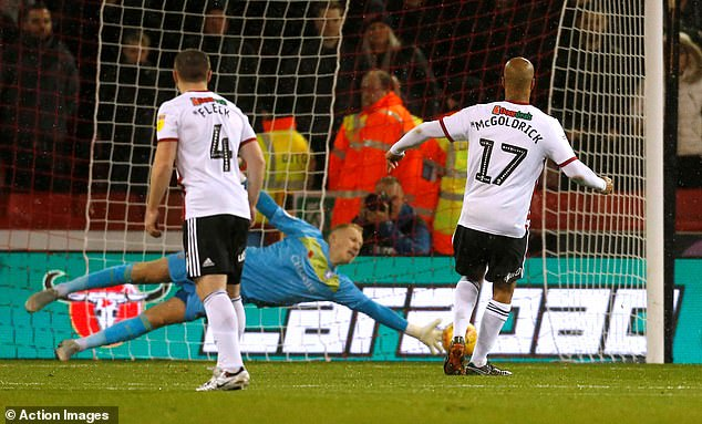 Sheffield goalkeeper Wednesday, Cameron Dawson, guessed and saved the effort