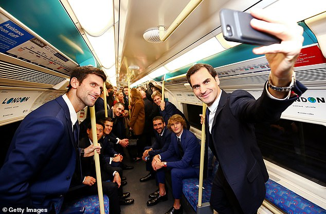 Federer took a selfie with the ATP World Tour Finals
