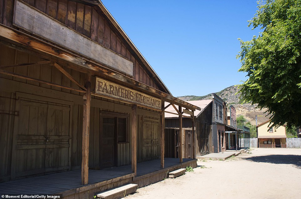 The ranch, seen before the blaze, has been the site of numerous productions and was started by Paramount in 1927.