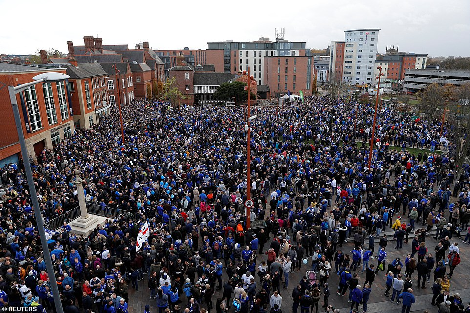 Supporters marched home against Burnley on Saturday afternoon at home