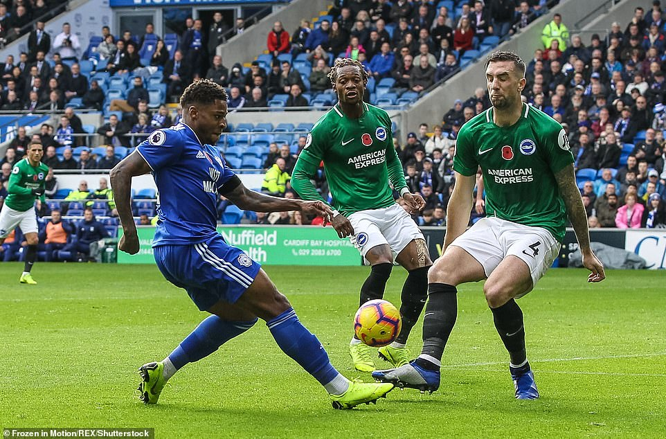 Harris holds Paterson's ball to the tie after he demists some Brighton players to the edge of the box