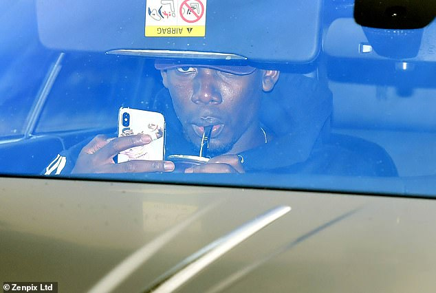 The Frenchman took a sip when he was on his way to training before the big derby fight