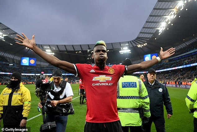 Pogba was the hero when United traveled to Etihad for the last time, scoring twice in a 3-2 win
