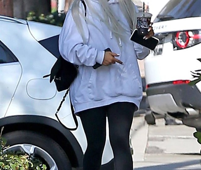 Feeling Catty Ariana Grande Was Spotted Wearing A Pair Of Cat Ears On Her Way
