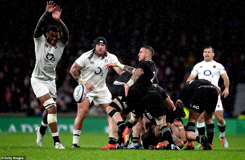 Courtney Lawes was judged offside in the accumulation for the Underhill test in the second half as the umpire referred to the TMO