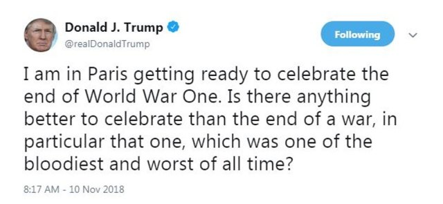 Trump misstated the facts of the war in the tweet. It was not the bloodiest of its kind. Among world wars, of which there have been two, the death toll for second world war, when the United States debuted the atomic bomb, was the highest