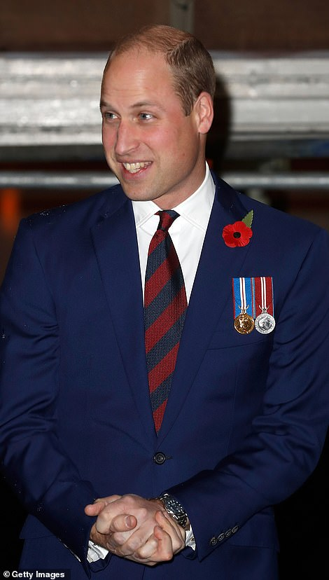 Prince William, Duke of Cambridge arrives at tonight's remembrance event