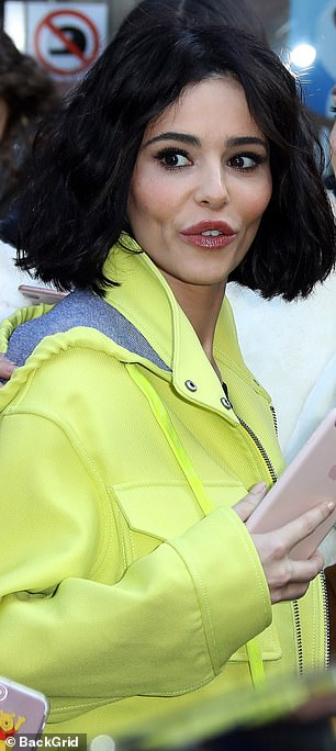 New look: Cheryl baffled fans when she showcased a whole new look on Friday in London