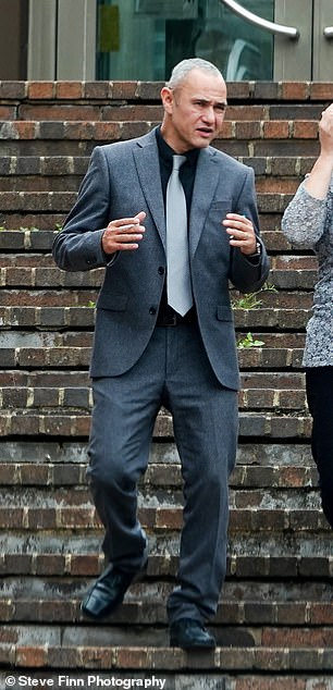 Matthew Oram, pictured outside Maidstone Crown Court today, was convicted of inflicting grievous bodily harm with intent to cause grievous bodily harm to Adam Ashurst
