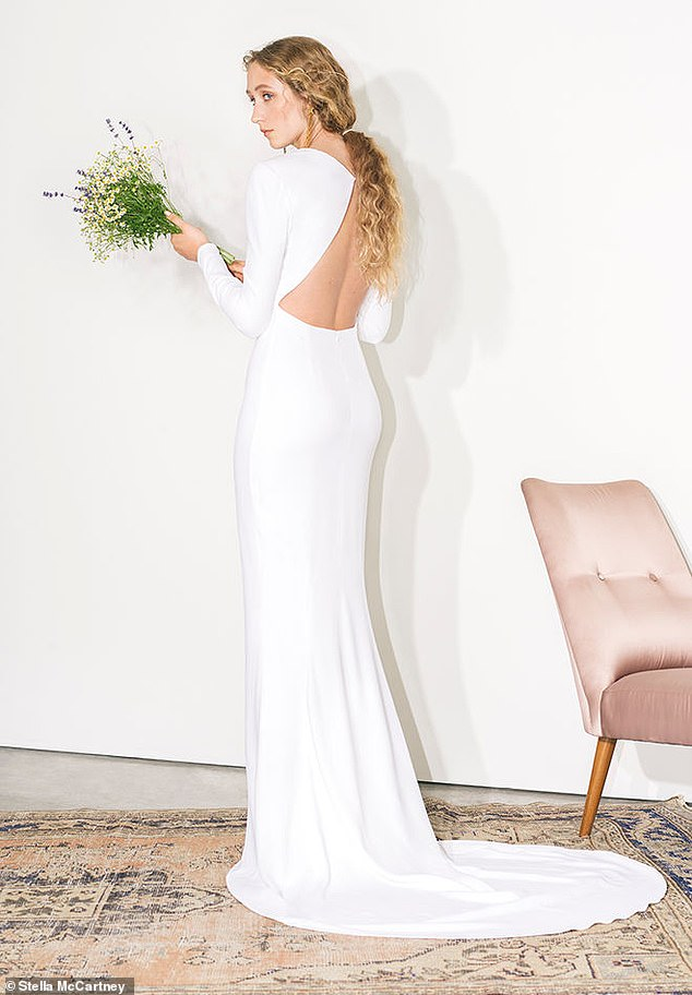 The 17-piece Made With Love bridal collection also includes a figure-hugging wedding dress featuring a cut-out at the back