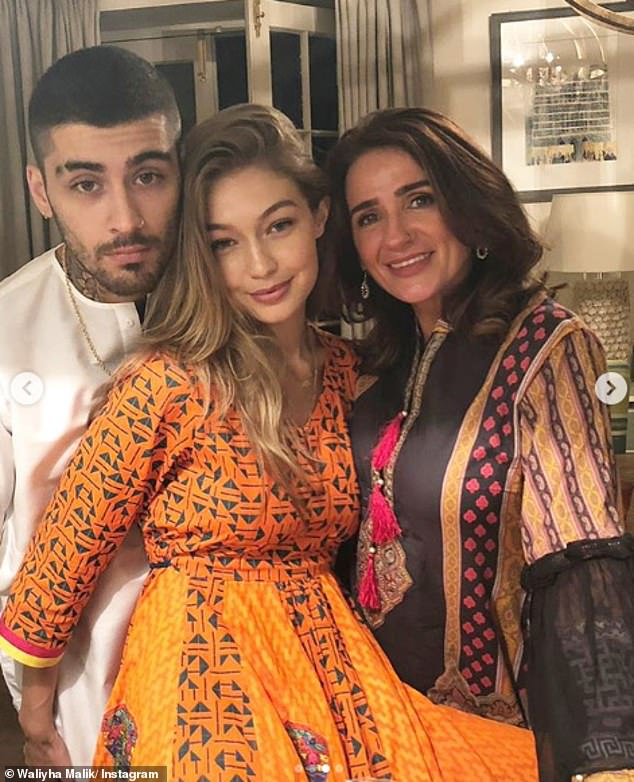 In August: Zayn's family shared snaps of the singer and Gigi Hadid as they celebrated Eid al-Adha, also called the Festival of Sacrifice