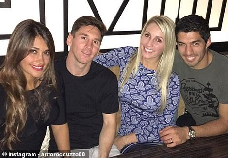 The Messis are also very close to his current Barcelona team-mate Luis Suarez
