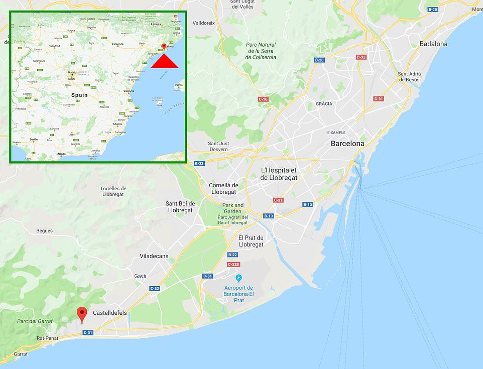 The location of Messi's new home town of Bellamar, which is on the coast just south of the city of Barcelona