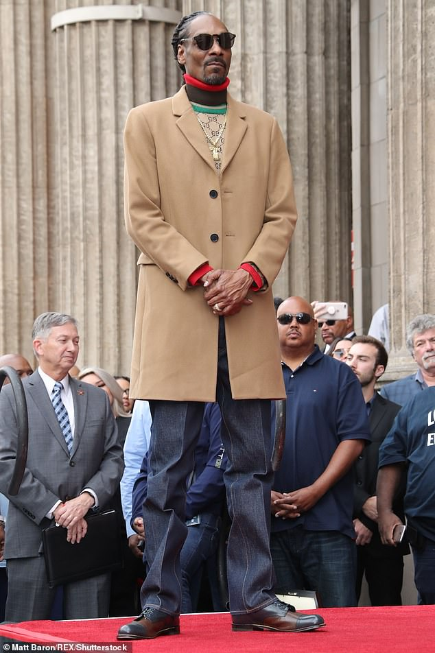 Regal: Snoop Dogg celebrated another achievement on Monday as he received a star on the Hollywood Walk of Fame