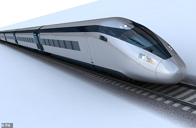 On track: HS2, a high-speed railway which will connect London, Birmingham, the East Midlands, Leeds and Manchester, has also boosted prices