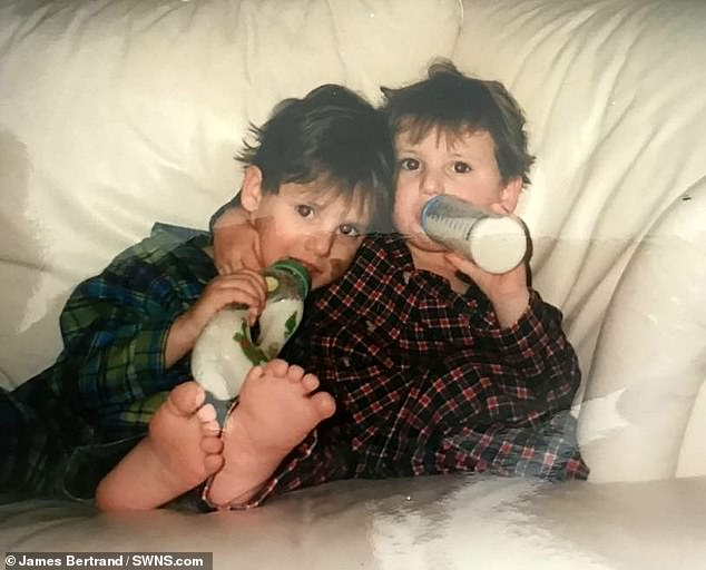 Boy Power: The siblings were prematurely born due to their rare blood disorder at the age of 28 weeks