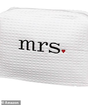 Wedding registry: The bride-to-be asked for a few adorable trinkets that read mrs and wifey on their Amazon wedding registry
