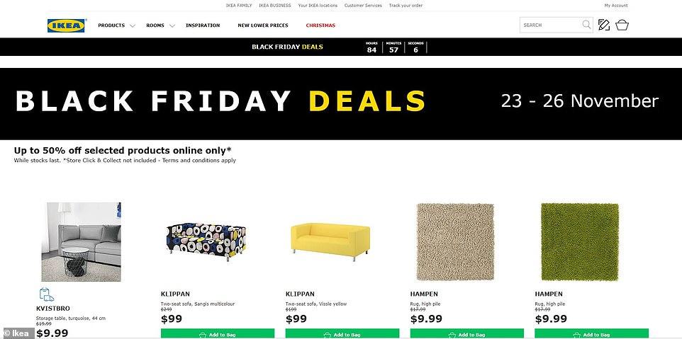 Black Friday 2018 Deals Ikea Launch Massive Half Price Sale