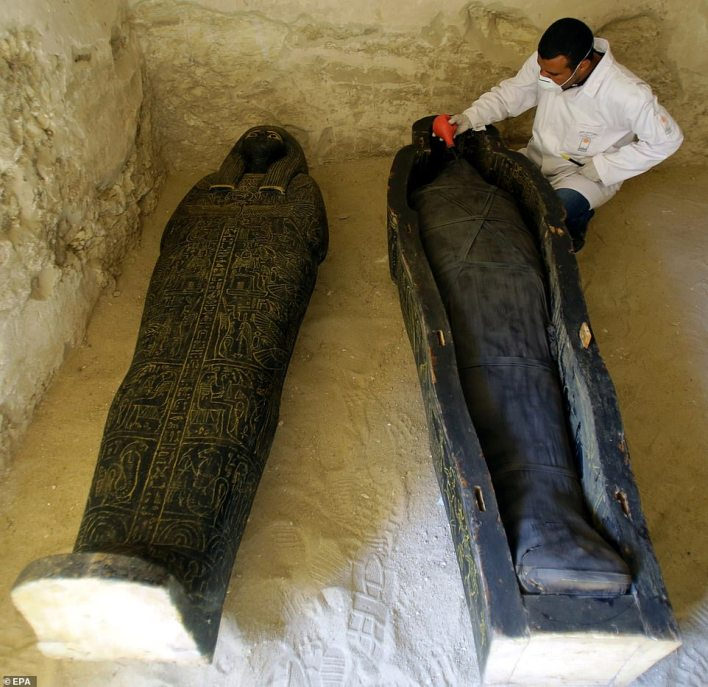 The tomb of the overseer of the mummification shrine has been unearthed in Luxor with its funerary collection at al-Assassif Necropolis on Luxor's west bank, Egyptian Minister of Antiquities Khaled El-Enany announced