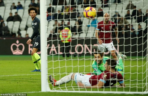 West Ham 0-4 Man City: Pep Guardiola's men extend unbeaten ...
