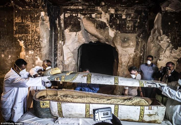 The tomb  at Al-Assasif necropolis on the west bank of the Nile north of the southern Egyptian city of Luxor was discovered earlier this month by a French mission