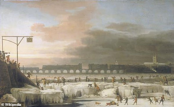 Frozen Thames, 1677, The original picture in the collection of the Museum of London